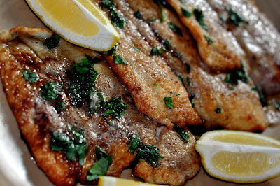 The JC100: Julia Child's Fillets of Flounder Meunière - Photo by Michelle Judd of Taste As You Go