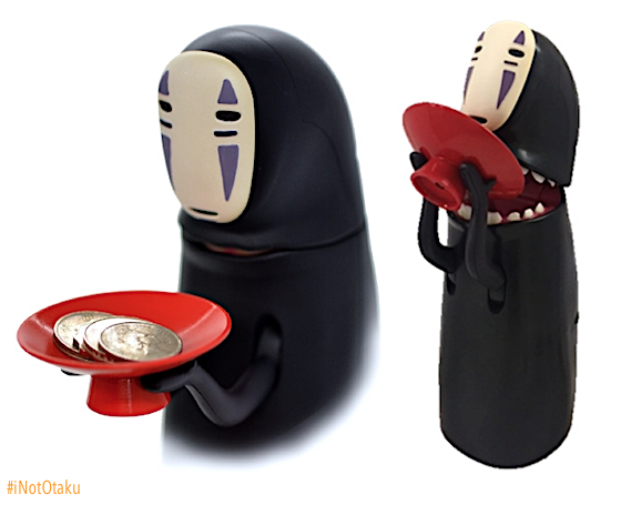 Japanese Anime Studio Ghibli Spirited Away No Face Holds Rat Bird Mini Figure Resin And Glass Collectibles Animation Art Characters