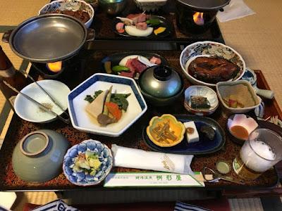 姥湯温泉の夕食