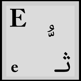 شرح كتابة الحروف والرموز العربية على زر من أزرار لوحة المفاتيح - تم تصميم الزر على موقع أبانوب حنا للبرمجيات