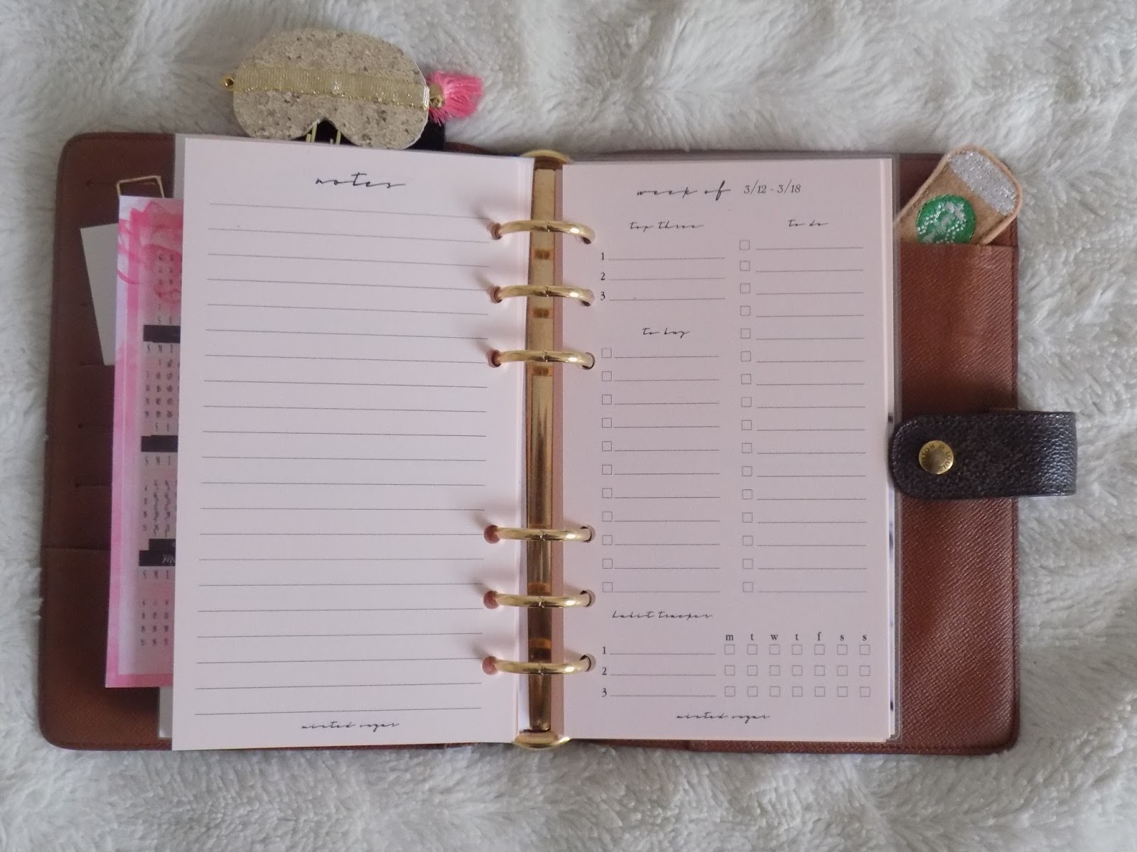41a4c8ae91d Royally Planned: LV Agenda MM - Royally Pink