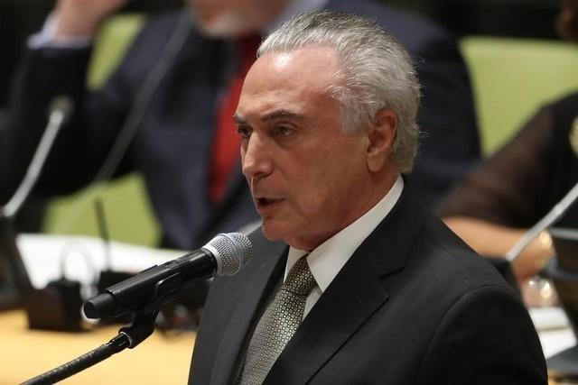O presidente do Brasil, Michel Temer, discursou agora pouco na abertura da 72ª Assembleia Geral da Organização das Nações Unidas (ONU), em Nova York.