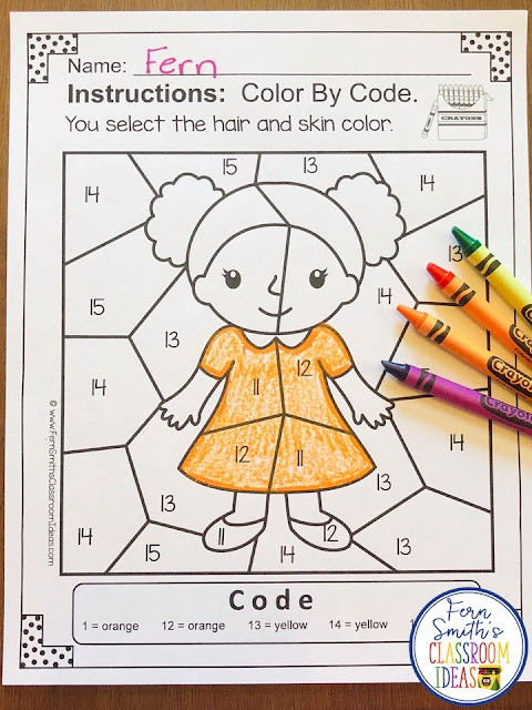 Color By Number For Math Remediation Teen Numbers 11 to 15 Old Woman in a Shoe - If you are looking for a resource for math remediation while still giving your students some confidence while reviewing important math skills, you will love this series. These five Color By Number worksheets focus on TEEN Numbers 11 to 15 with an adorable There Was An Old Woman Who Lived in a Shoe theme. The five pages have only a few color selections and only a few numbers, to help your students focus on the repetitive pattern of the teen numbers 11 to 15. All the while giving your students a fun and exciting review of important math skills at the same time! You will love the no prep, print and go ease of these printables. As always, answer keys are included.