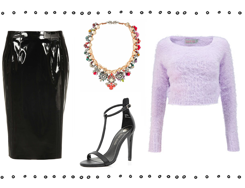 how to style vinyl pvc clothes outfit topshop missguided