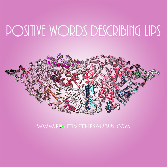 kiss synonym and lips synonym positive word cloud