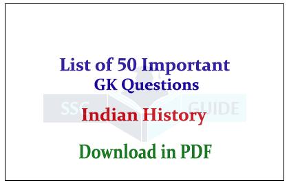 Indian History Gk Pdf