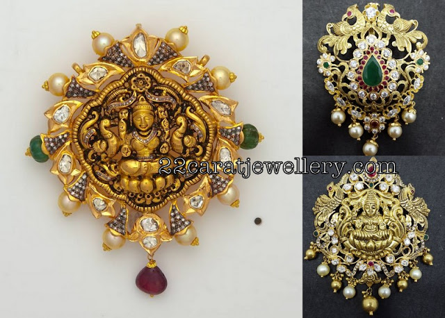 Contemporary Lakshmi Pendant Sets