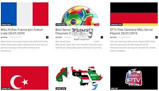 موقع iptv4sat للحصول على روابط اى بى تيفى IPTV مجانا