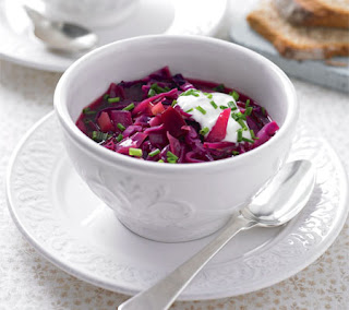Beet and Cranberry Borscht Recipe