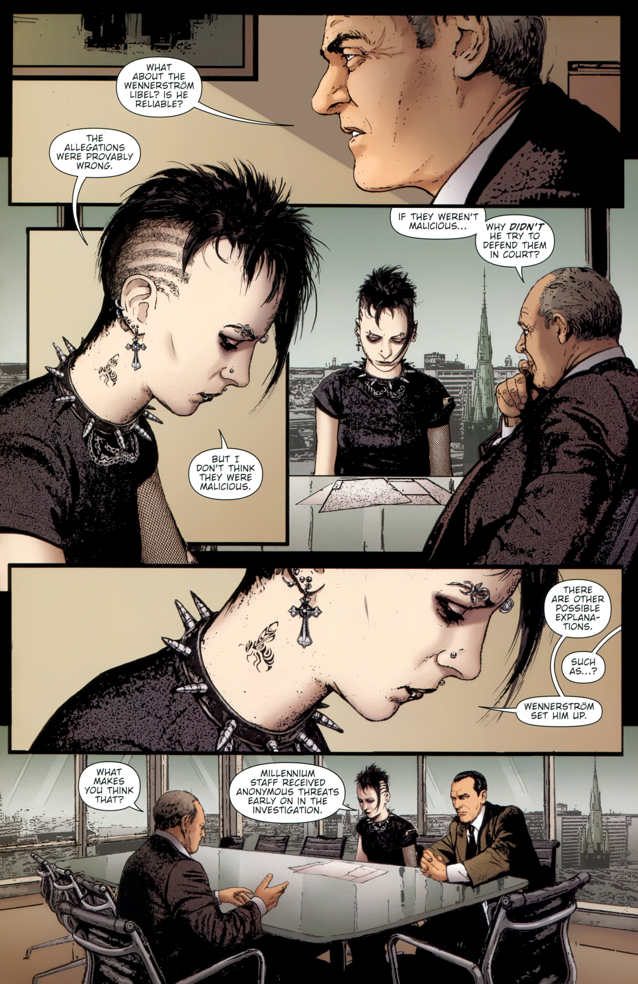 Read online The Girl With the Dragon Tattoo comic -  Issue # TPB 1 - 22