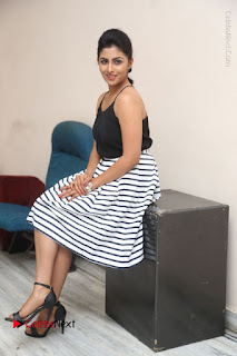 Telugu Actress Kruthika Jayakumar Stills in Short Dress at Intlo Deyyam Nakem Bhayam Success Meet  0237.JPG