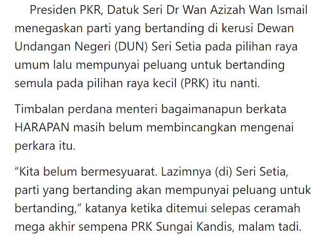 Pkr Ada Peluang Bertanding Semula Di Seri Setia Bussines Melayu