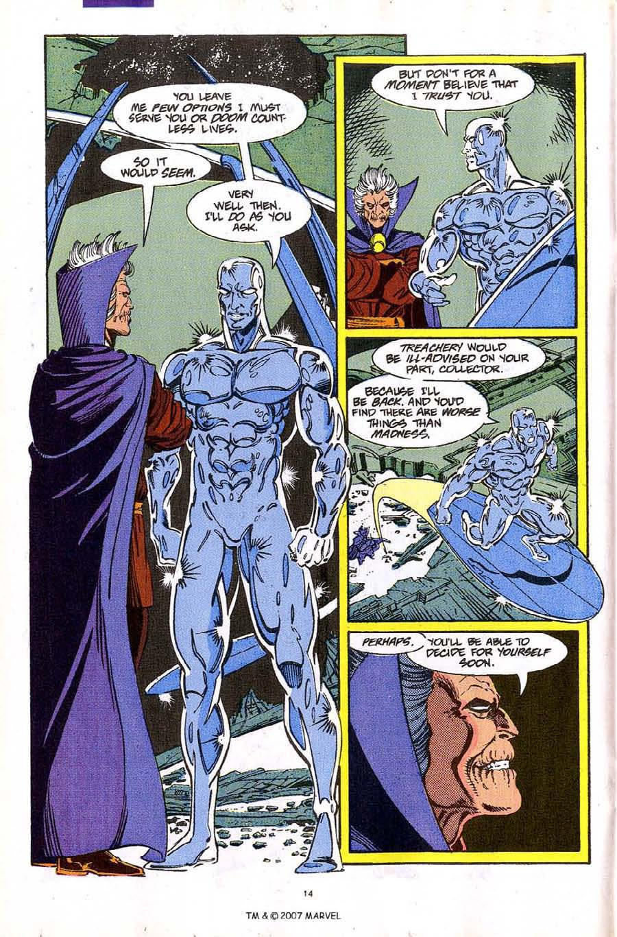 Read online Silver Surfer (1987) comic -  Issue #61 - 16