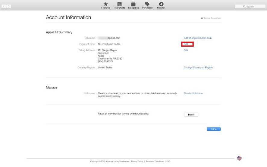apple id payment options