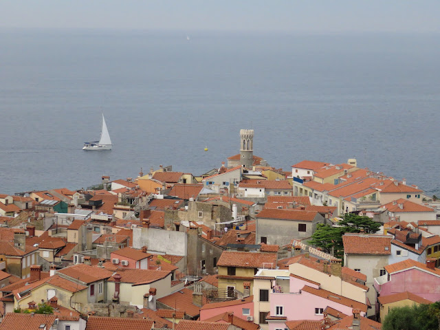 Views of Piran Slovenia from the Piran Cathedral