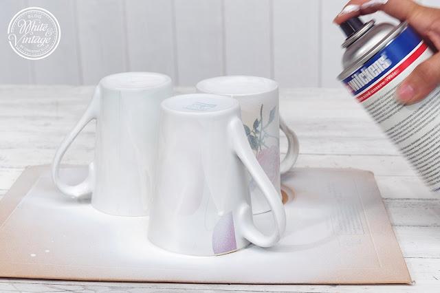 Tassen mit Sprühfarbe lackieren