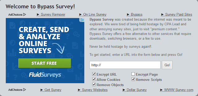 Bypass surveys online free
