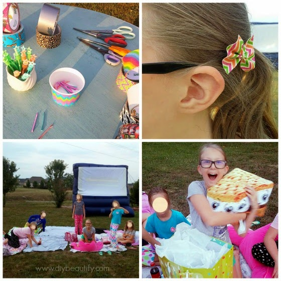 Movie Night under the stars www.diybeautify.com