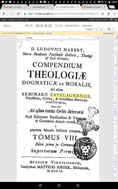 Compendium theologiae , dogmaticae, moralis, seminarii catalaunensis