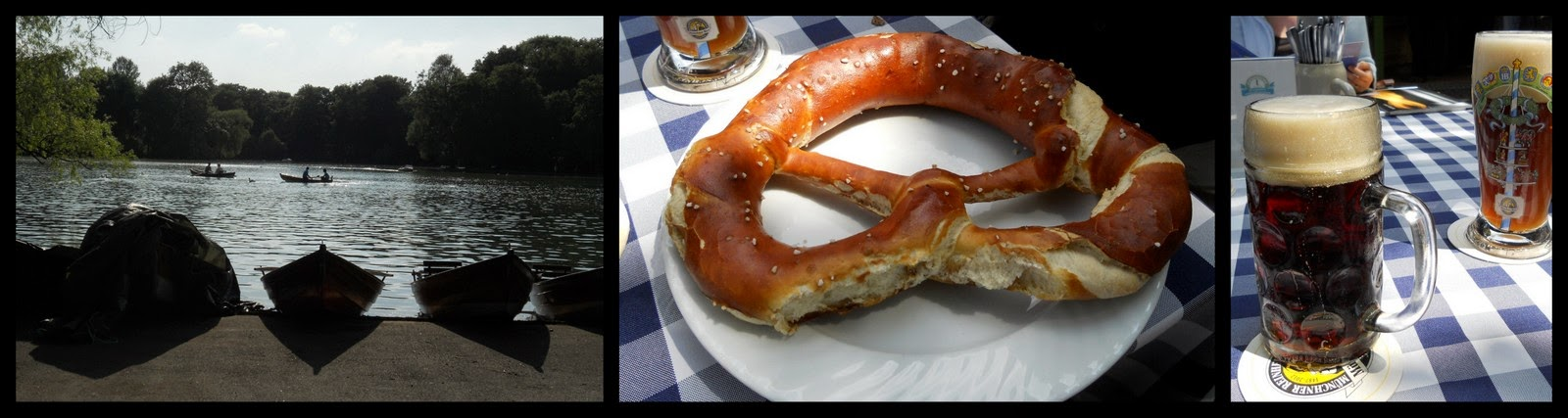 Munich - Beer and Pretzel in the Englischer Garten