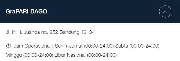 Alamat GraPARI Telkomsel Bandung: Jl. Ir. H. Juanda no. 252