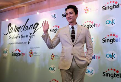 Source: Singtel. Korean celebrity Song Seung Heon met with fans and Singtel TV subscribers during a visit to Singapore hosted by Singtel and Oh!K.