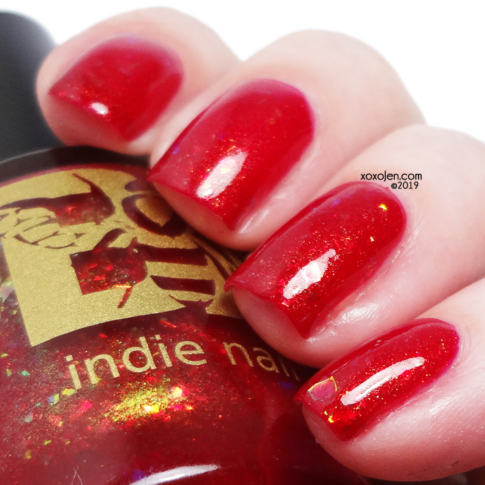 xoxoJen's swatch of Bees Knees Lacquer I Love Me Strawberry Smiggles