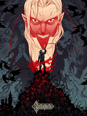 Emerald City Comicon 2016 Exclusive Castlevania Standard Edition Screen Print by Becky Cloonan x Mondo