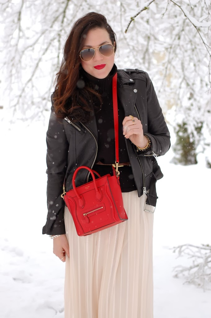 Winter maxi skirt and Mackage leather jacket Covet and Acquire Vancouver blogger