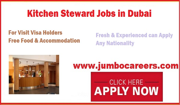 Restaurant jobs for visit visa holders, Freshers jobs in Dubai 2018,