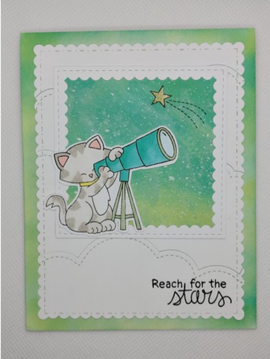 Reach for the stars by Janet features Cosmic Newton and Frames & Flags by Newton's Nook Designs; #newtonsnook