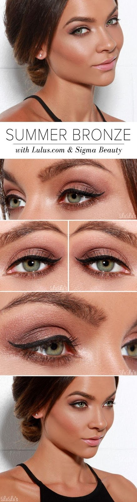 summer bronze makeup idea