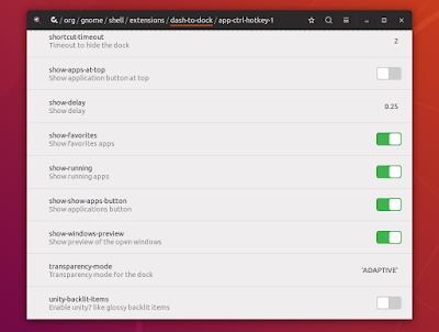 Ubuntu Dconf Dash To Dock settings