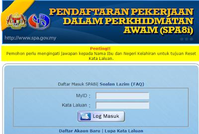 semak status spa8i online