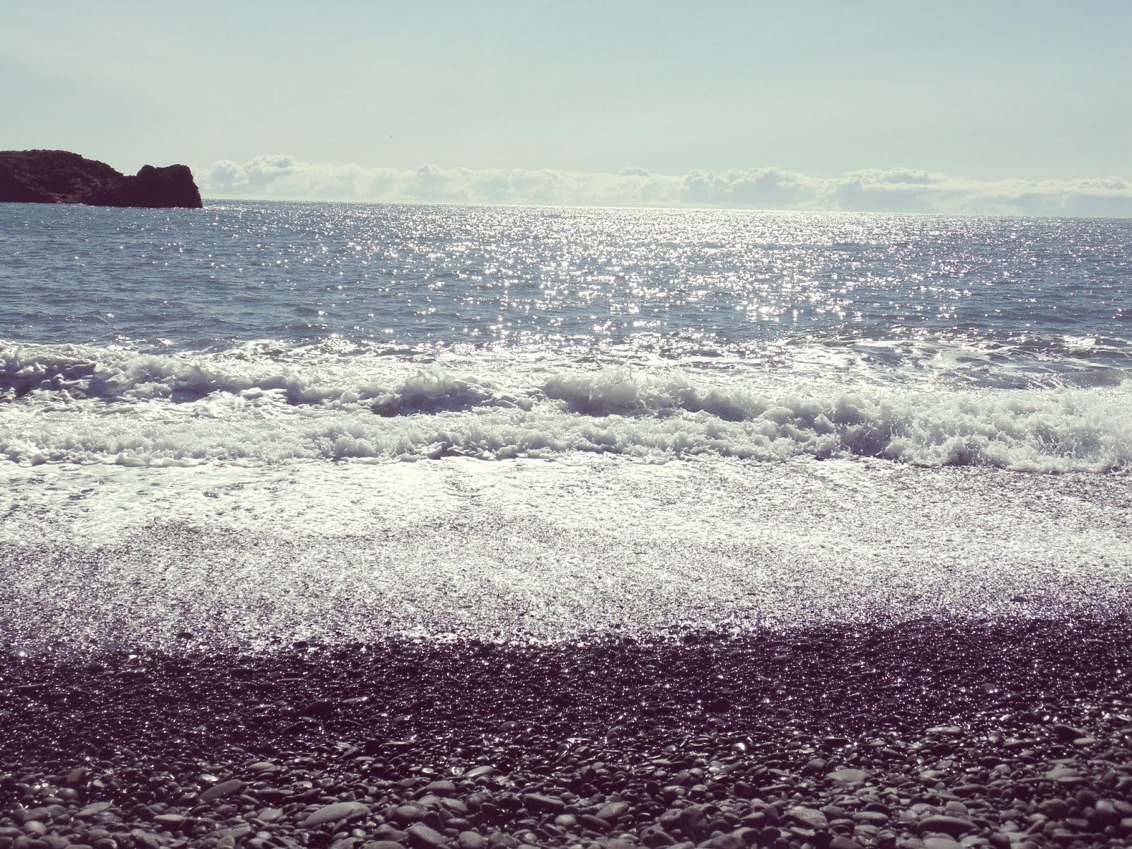 Islandzkie wybrzeże, Islandia, powiedzenia, fale, rzadko się zdarza pojedyncza fala