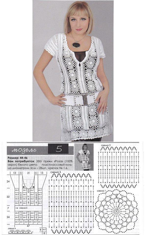 Patron Crochet Vestido Primavera