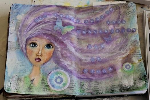 Let It Bloom Art Journal Page by Tori Beveridge