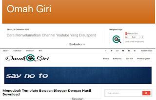 Mengubah Template Bawaan Blogger Dengan Hasil Download
