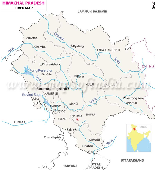Hp state gk objective qa hindi english quiz online test major major rivers and gk questions about rivers in himachal pradesh gumiabroncs Gallery