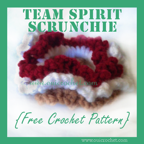 Team Spirit Hair Scrunchie