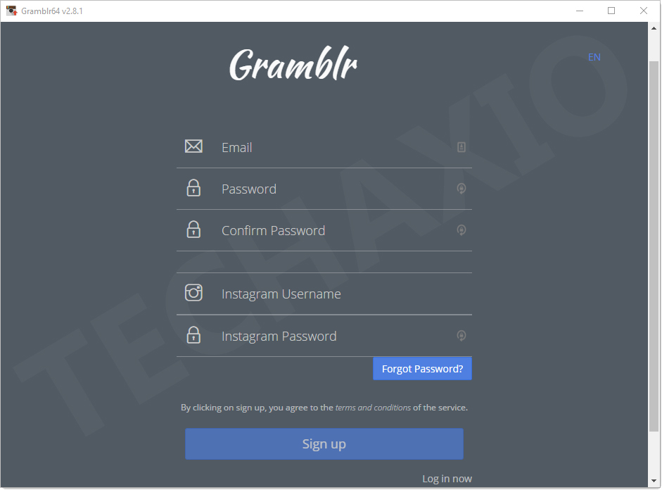 Gramblr Registration