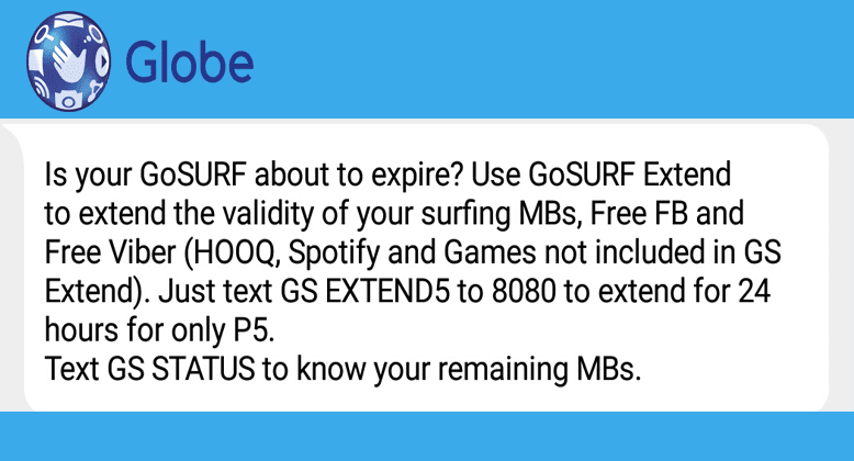 How to EXTEND Your Globe SURF Promo for Only 5 Pesos