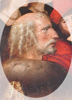 Retrato de Cristobal Colón de perfil