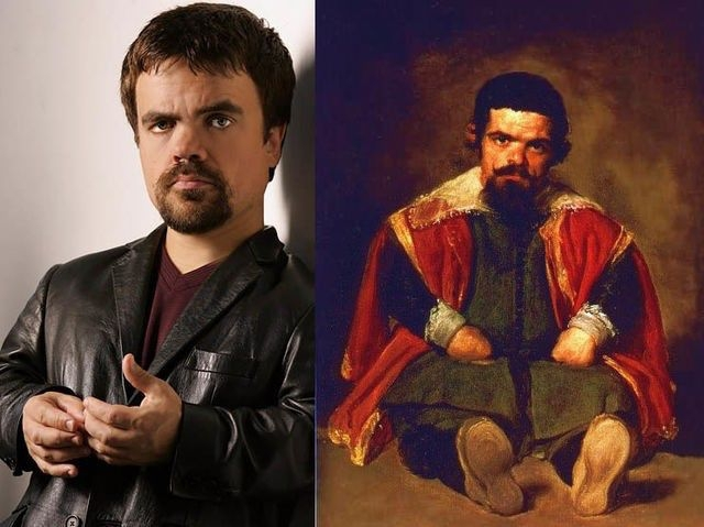 "Peter Dinklage and ""Portrait of Sebastian de Morra"" Diego Velazquez"