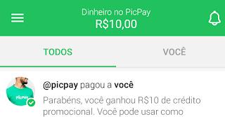Como ganhar 10 reais instantaneamente no PicPay