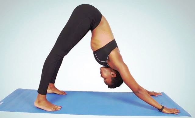 Adhomukha svanasana in Hindi