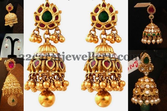 Jhumkas from Malabar Gold Jewelry Jewellery Designs