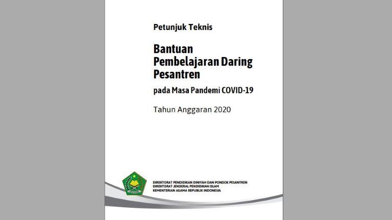 Juknis Bantuan Pembelajaran Daring Pesantren Tahun 2020