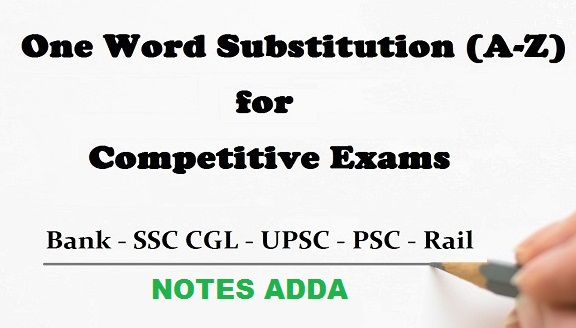 One Word Substitution Pdf File