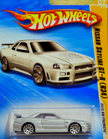 Hot Wheels Nissan Skyline GT-R 1/64